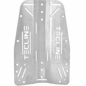 Edelstahl-Backplate (3 mm) mit Tecline-Logo [Scubatech] 6