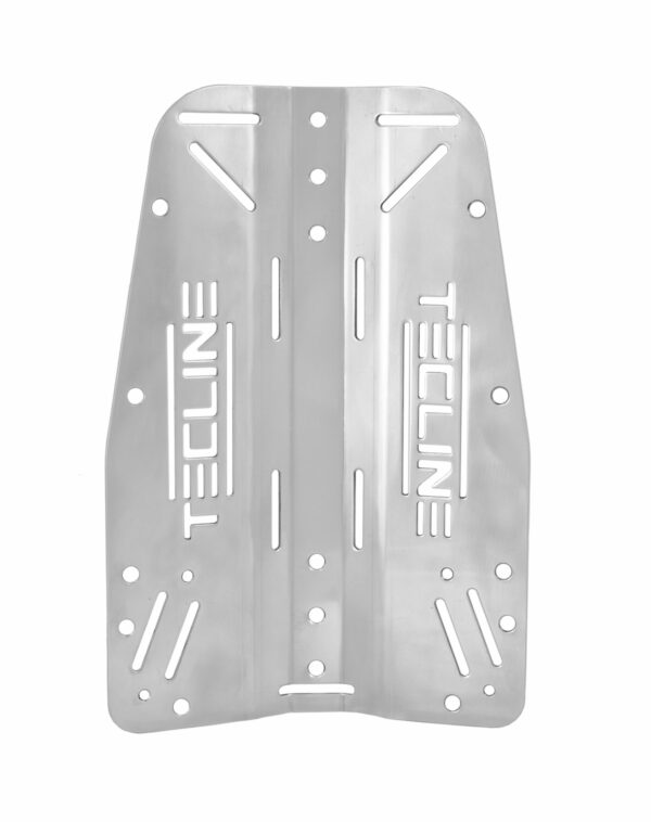 Edelstahl-Backplate (3 mm) mit Tecline-Logo [Scubatech] 1