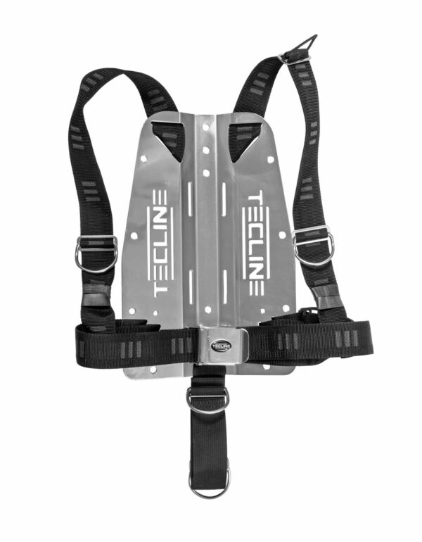 Harness Tecline DIR weich mit 3 mm Edelstahl-Backplate (mit Logo) [Scubatech] 1