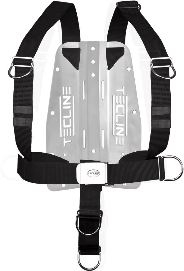 Harness Tecline DIR mit 3 mm-Edelstahl-Backplate (mit Tecline-Logo) [Scubatech] 1