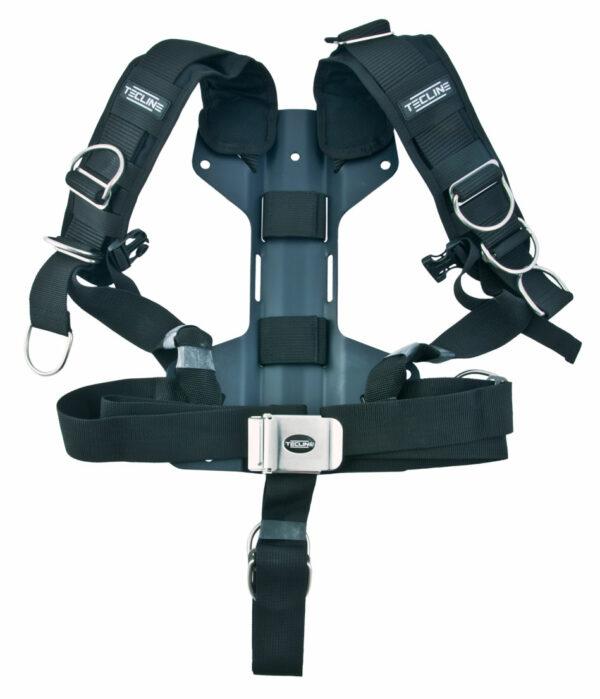 Harness Tecline Komfort (einstellbar) mit H-förmiger 3 mm Aluminium-Backplate [Tecline] 1