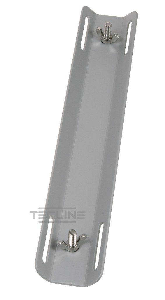 Aluminium-Monoadapter, grau, mit Schrauben [Tecline] 1