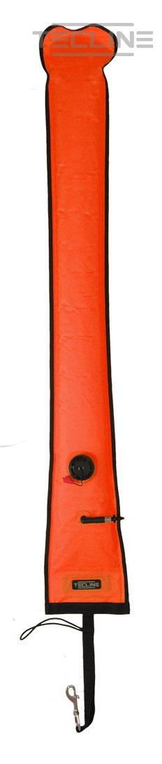 Boje, halbgeschlossen, 15 x 183 cm, OPR-Ventil, Orange [Tecline] 1