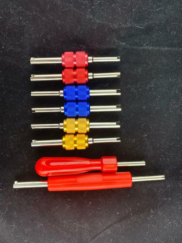 Inflatorventilschlüssel im Set 2
