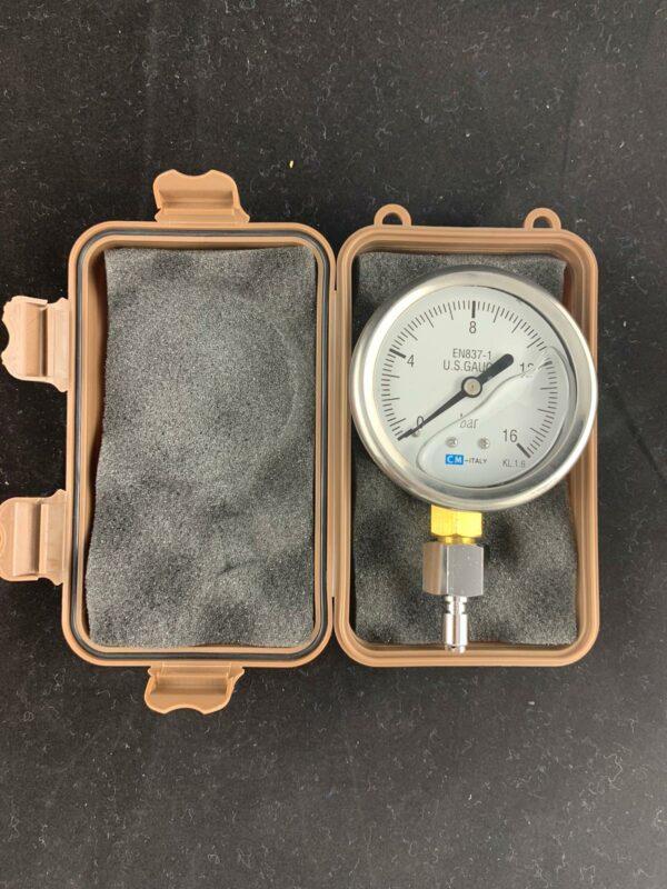 Mitteldruckmanometer (mit Clyzerin) mit Inflatoranschluss mit Transportbox 1